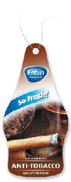 15213 Ароматизатор подвесной,бумажный,пластинка,DRY SO FRESH,Антитабак(Anti-tobacco),FRESH WAY,