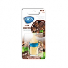 15313  Ароматизатор подвесной,жидкий,флакон с деревянной крышкой,5мл,в блистере,WOOD Черный шоколад