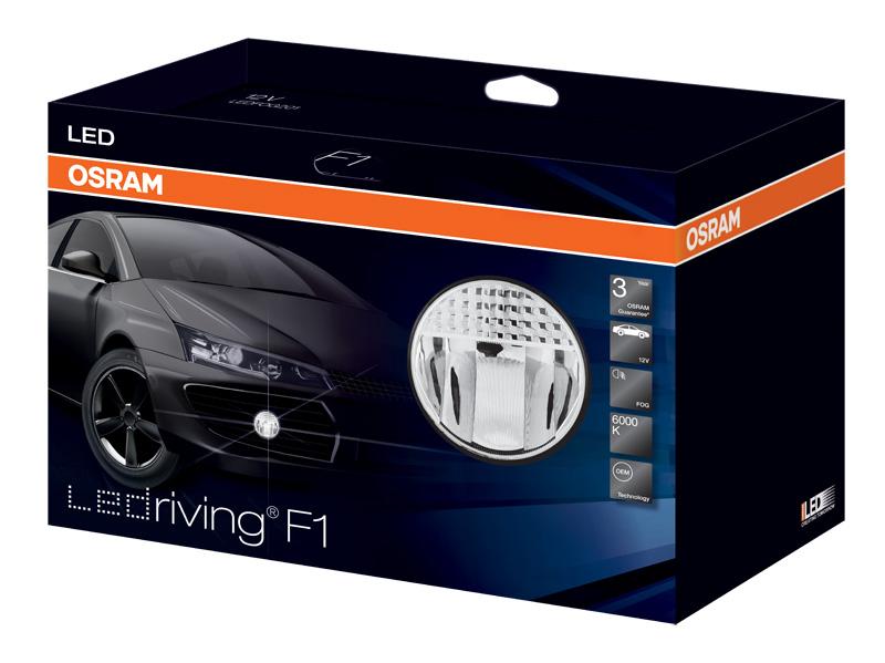 Противотуманная фара (LED) LEDFOG201 12V 2X1 UNP (BK)