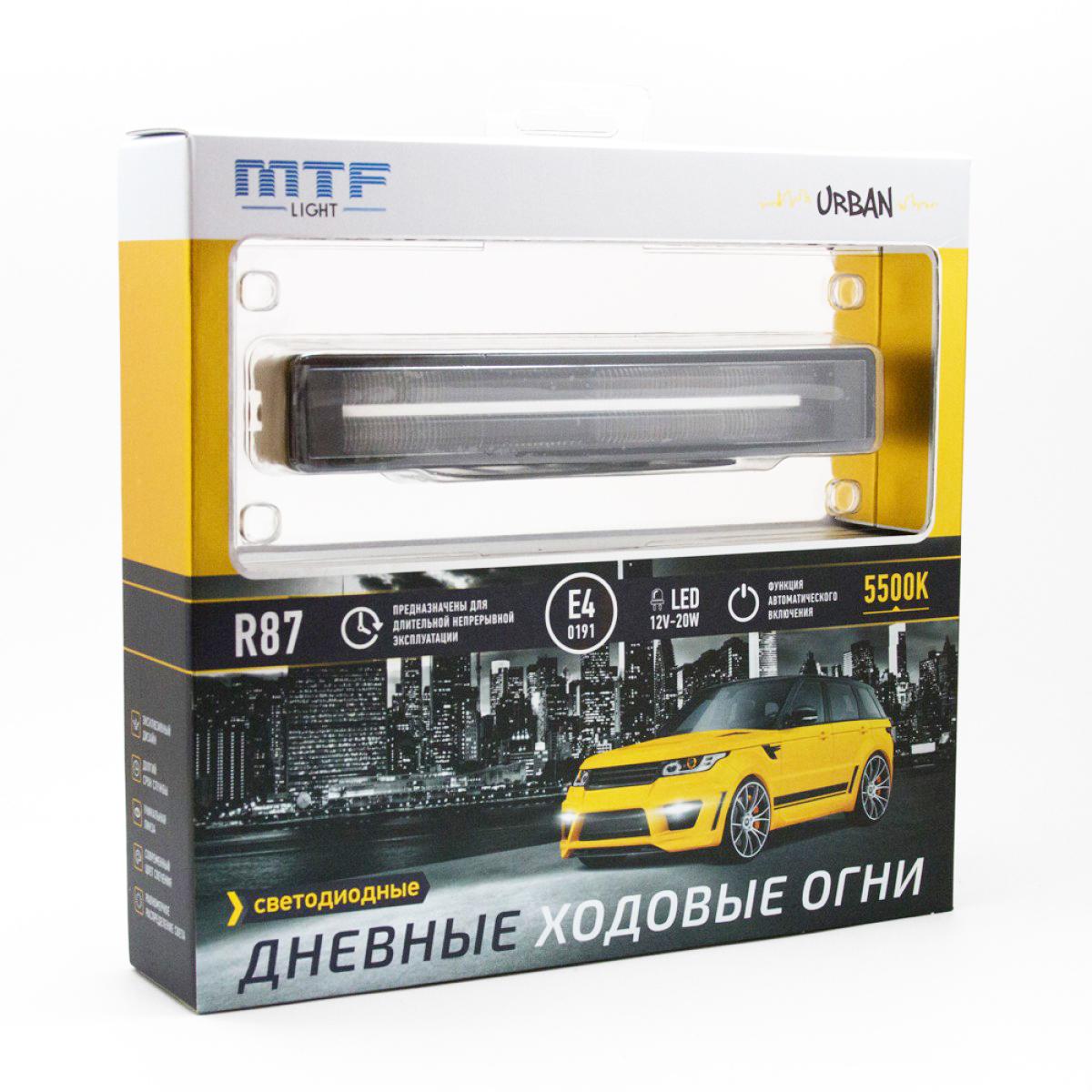 LDL 180 MTF Светодиодные дневные ходовые огни 5500К, 12В, 20Вт, Серия URBAN ком-т