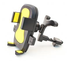 D4208 Держатель для мобильного телефона на решетку воздуховода Кальмар-006, желтый, в блистере