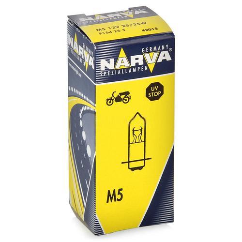 42015 Мотолампа M5 12V-25/25W (P15d-25-2)NARVA