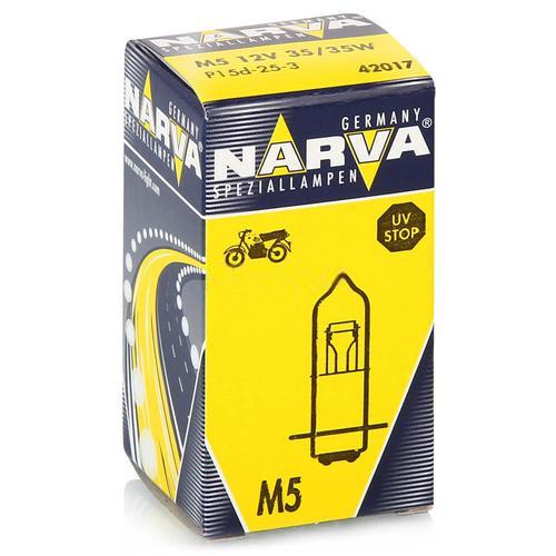 42017 Мотолампа M5 12V-35/35W (P15d-25-2)NARVA