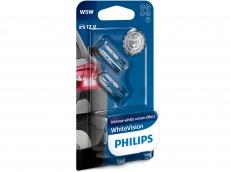 Автолампа 12V W5W W2.1*9.5d (блистер 2шт.) White Vision +60% Philips 12961NBVB2