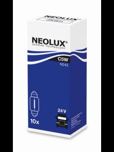 Автолампа 24v 5w SV8.5-8 (C5W) (N242) NEOLUX