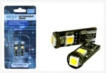 Светодиодные лампы MTF W5W50CAN  12v с обманкой (2шт)
