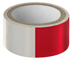 A7022 Светоотражающий скотч ширина 5см, длина 50м, красно-белый