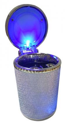 B4126 Пепельница серебристая с подсветкой