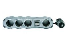 G4006 Разветвитель гнезда прикуривателя на 4 устройства с 2 USB, 4008