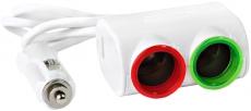G4010 Разветвитель 2 незда, 1 USB, белый Olesson 1631, светодиодна подсветка