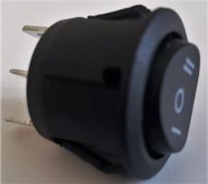 G9005 Выключатель трехпозиционный без подсветки 12/24 Вольт