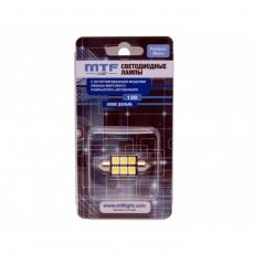 Светодиодные лампы MTF C5W50СAN/ 12v 36mm 6led/ 5000К с обманкой 1шт.