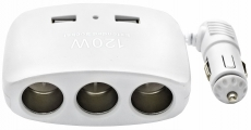 R4150 Разветвитель 3 гнезда 2 USB, Olesson 1511, белый