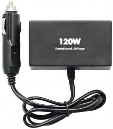 R4153 Разветвитель 2 гнезда 1 USB, черный Olesson 1522 с подсветкой