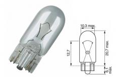17177 Автомобильная лампа W5W 12V-5W  (W2,1x9,5d) NARVA