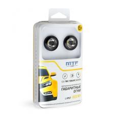 Габаритные автомобильные огни светодиодные Ф25мм 12В 1Вт ЕСЕ R7 E4 встраиваемые 2шт МТF PLR25!