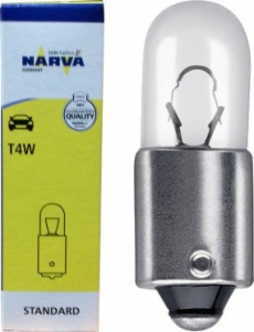 17131 Автомобильная лампа T4W 12V-4W  BA9s NARVA