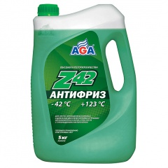 049 Антифриз, готовый к применению, зеленый, -42С 5 литров ANTIFREEZE AGA-Z42, PREMIX