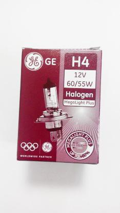 Автолампа Н4 12V 60/55W P43t Megalight plus +60% General Electric ( к.кор. 1шт)