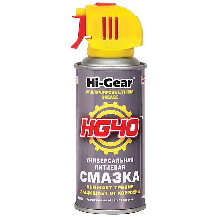 5504 HG Универсальная литиевая смазка, аэрозоль Hi Gear HG40 MULTIPURPOSE LITHIUM GRE