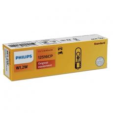 Автолампа 12V W1,2W W2,1X9,5d (бесцокольная) Philips 12516
