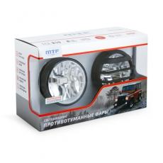 Противотуманная фара светодиодная автомобильная MTF Light Ф90мм 12В 5,9Вт ЕСЕ R19 Е4