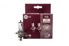 Автолампа H4 12V 60/55W P43t Megalight plus +60% General Electric (комплект 2шт)