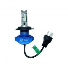 Комплект светодиодных ламп SVS H4 серии S1+( CSP-чип/IP67/4000Lm/5000K/9-32V/30W)