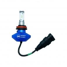 Комплект светодиодных ламп SVS H8/H9/H11 серии S1+( CSP-чип/IP67/4000Lm/5000K/9-32V/30W)