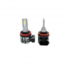 Комплект светодиодных ламп SVS H8/H9/H11/H16 серии N3 (CSP1860-чип/2000Lm/5000K/12-24V/20W/IP67)