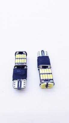 T10-26(12-24)Canbus Лампа светодиодная 12-24V W5W W2.1*9.5d 26-SMD Canbus Биполяр.5000K