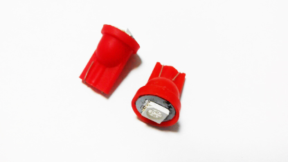 T10-1smd (12) Лампа светодиодная 12V W5W W2.1*9.5d 1-SMD Красная