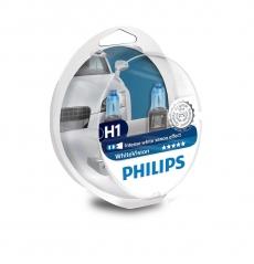 12258WVUSM Лампа автомобильная H1 12V- 55W (P14,5s) White Vision ultra +W5W (2шт.) (Philips)