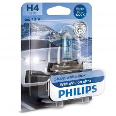 12342WVUB1 Автолампа 12v Н4 P43t 60/55w (блистер 1шт.) White Vision Ultra +60% Philips