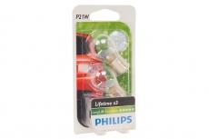12498 LLECOB2 Автолампа P21W 12V-21W BA15s (комплект 2шт.) Long Life EcoVision Philips