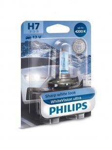 12972WVUB1 Автолампа 12v Н7 PX26d 55w (блистер 1шт.) White Vision Ultra +60% Philips