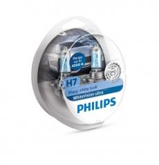 Автолампа 12v Н7 PX26d 55w (комплект 2шт.) White Vision Ultra +60% Philips 12972WVUSM