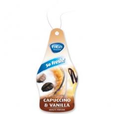 15217 Ароматизатор подвесной,бумажный,пластинка,DRY SO FRESH,Ванильный капучино(Capuchino & vanilla)