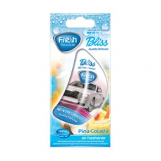 15274 Ароматизатор подвесной,гелевый,парус,BLISS Cars,Пина колада(Pina Colada),FRESH WAY,Болгария,