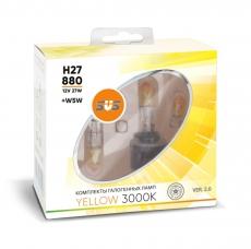Галогенные лампы SVS серия YELLOW H27/880 27W+W5W комплект 2шт.