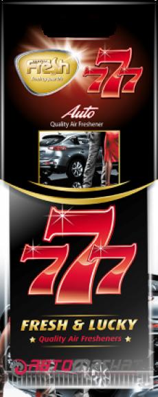 15343 Ароматизатор подвесной,бумажный,пластинка,777,Авто(Auto),FRESH WAY,Болгария,VIKTORY2000,