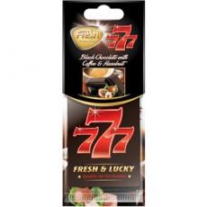 15346 Ароматизатор подвесной,бумажный,пластинка,777,Темный шоколад (Black chocolate),FRESH WAY,