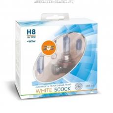 Галогенные лампы SVS серия White 5000K H8 35W+W5W white, комплект 2шт.