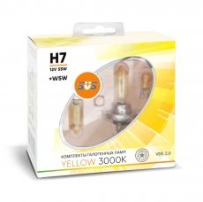 Галогенные лампы SVS серия YELLOW H7 55W+W5W комплект 2шт.