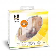 Галогенные лампы SVS серия YELLOW H8 35W+W5W комплект 2шт.