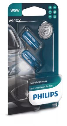 12961XVPB2 Автолампа 12V W5W 5W (блистер 2шт) X-treme Vision Pro150 Philips
