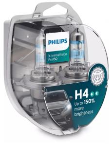 12342XVPS2 Автолампа 12V H4 P43t 60-55W (комплект 2шт) X-treme Vision Pro150 Philips