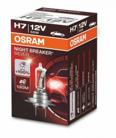 Автолампа H7 12v 55W Night Breaker Silver +100% Osram (1шт) 64210NBS C1