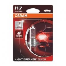 Автолампа H7 12v 55W Night Breaker Silver +100% Osram (блистер 1шт) 64210NBS-01B