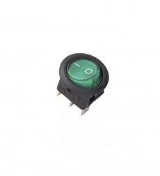 905931 Клавиша 12V 20А овальная с зеленой LED подсветкой (3конт.) ON-OFF